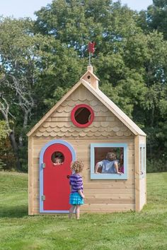 Playhouse 870 wooden playhouse is splinter-free, chemical-free, and maintenance-free and features swings, slides, climbing walls, jungle gyms, and more
