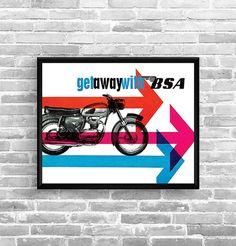 Affiche BSA 1964 - Garage Atelier Vintage - Limited Edition