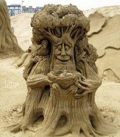 Tree With Nest Sand art!