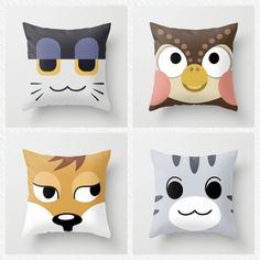 Animal crossing villager pillows. I need these!