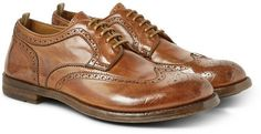 Brown Leather Brogues by Officine Creative. Buy for $670 from MR PORTER