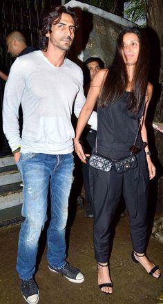 Arjun Rampal with wife Mehr at Abhishek Kapoor's big birthday bash for Pragya #Bollywood #Fashion