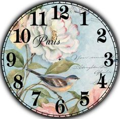 Циферблат.                                                       … Make A Clock, Diy Clock, Shabby Chic Prints, Clock Face Printable, Paisley Art, Clock Art, Decoupage Vintage, Wood Clocks, Grandfather Clock