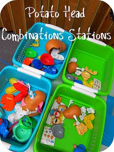 Teaching Combinations with  Mr & Mrs Potato Head Stations