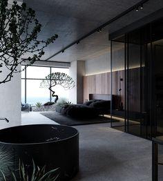 Apartment Interior, Apartment Design, Modern Interior Design, Interior Architecture, Amazing Architecture, Residential Architecture, Contemporary Architecture, Bauhaus, Master Bedroom Interior