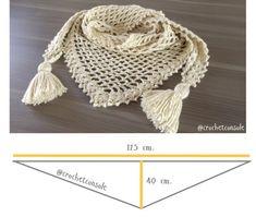 Chal a crochet en punto red Crochet Poncho Patterns, Crochet Jacket, Crochet Cardigan, Crochet Scarves, Crochet Shawl, Knit Crochet, Punto Red Crochet, Baby Girl Crochet, Beaded Jewelry Patterns