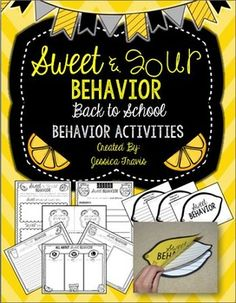FREE - Sweet & Sour Behavior! A back to school activity and craft to learn all about Sweet behavior!