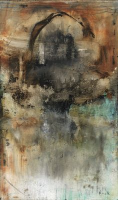 ABSTRACT ART Canvas Print of When The Dust Settled