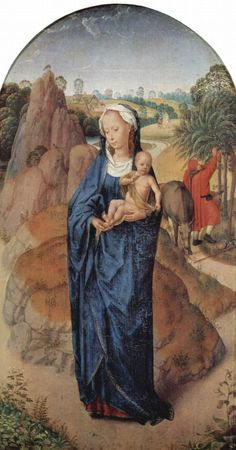 1480 Hans Memling (circa 1433–1494) Flight into Egypt from It's About Time blog