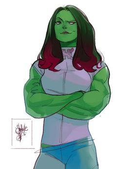 She-Hulk by Otto Schmidt * Marvel Dc, Marvel Comics Art, Marvel Girls, Marvel Heroes, Otto Schmidt, Comic Book Artists, Comic Artist, Comic Books Art, Marvel Universe