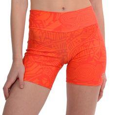 Ciclista corto de LYCRA®  estampada naranja