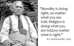 The difference between morality and religion