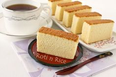 Japanese Honey Castella cake.  4 ingredients: Eggs, flour, sugar, and honey.    If you've tried this before, you know how memorable it is.  It's like a cross between sponge cake and pound cake.