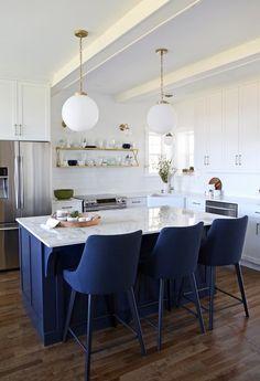 DIY Furniture : Glam Farmhouse kitchen reveal with Dekton countertop and Jeffery Court Tile Home Design, Interior Design, Ikea Hacks, Modern Farmhouse Kitchens, Home Kitchens, Fixer Upper, Best Kitchen Design, Refacing Kitchen Cabinets, Loft