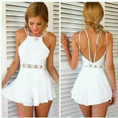 Online Shop Macacao Feminino 2015 Rompers Womens Jumpsuit Summer Style Waist Lace Hollow out Bodysuit Wave White Playsuit Vestidos Cortos Jumpsuits For Sale, Jumpsuits For Women, Short Jumpsuit, Jumpsuit With Sleeves, Sparkly Jumpsuit, Strapless Jumpsuit, White Playsuit, White Romper Outfit, White Jumpsuit