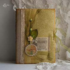 Altered Book Cover / What if I wrapped the covers in scrapbook paper? /