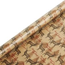 Wilko Christmas Wrap Stag Design 5m Festive Forest