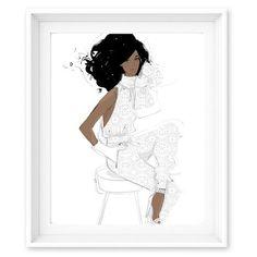 Megan Hess Limited Edition Print - Enchanted - Oscar Jumpsuit