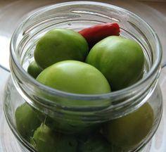 relaxotour: Zöld paradicsom egészben Marmalade, Fruit, Kamra, Apple, Canning, Kitchens, Drinks, Apple Fruit, Home Canning