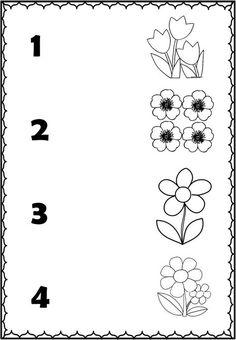 Alphabet Activities Kindergarten, Kindergarten Special Education, Kindergarten Math Worksheets, Worksheets For Kids, Kids Education, Number Worksheets, Numbers Preschool, Learning Numbers, Preschool Activities