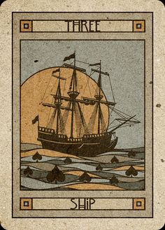 3 Ship - Chelsea-Lenormand Blue by Neil Lovell