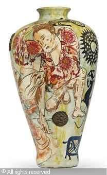 Jap Alex was sold by Christie's, London, on Wednesday, June Grayson Perry, English Artists, Art Day, Pottery, Gcse Art, Ceramics, British, Craft, Artesanato