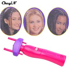 CkeyiN Electronic Hair Styling Tools Automatic Twist Braid Knitted Device 2 Strands Hair Braider Machine Braiding Quick Twister