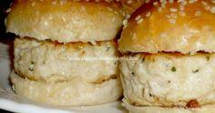 Mini hamburguesas de pollo Hamburger, Bread, Food, Appetizers, Clean Chicken, Cookers, Gray, Eten