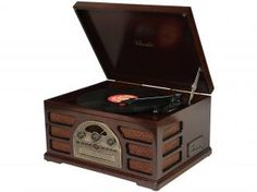 Vitrola Ribeiro e Pavani Woodburn CD Player - Entrada USB e MP3 Rádio AM/FM