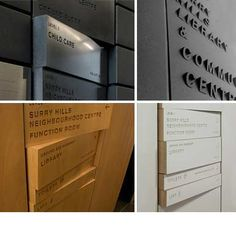 SIgnage panels with laser cut text
