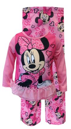 Disney's Minnie Mouse Pink Leopard Toddler Pajamas Perfect for the little diva… Cute Outfits For Kids, Toddler Outfits, Cute Kids, Boy Outfits, Toddler Girls, Baby Girl Items, Cute Baby Girl, Cute Babies, Kids Winter Fashion