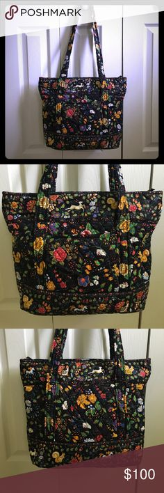 "Vera Bradley "" Tavern on the green""  RARE Purse  Vera Bradley "" Tavern on the green"" purse.  Very Rare! Beautiful purse in awesome condition.  it's really hard to find this pattern. Dimensions 12in H by 15in L by 4.5in W   Vera Bradley Bags Shoulder Bags"
