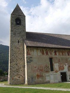 Danse Macabre frescoes on the parish church in Pinzolo, near Trento