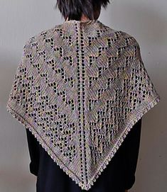 Whether you are out at the market or snuggled up at home with a good book, the Market Shawl is a beautiful accessory that is soft and elegant. It features a pointed lace pattern throughout, with garter and picot edge finishing. The sheen and silky softness of Panda Pearl make this shawl a delight to knit and wear.