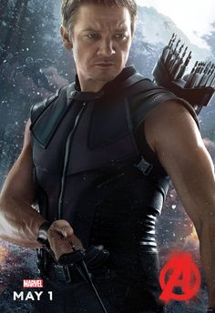 Hawkeye character poster. Avengers: Age of Ultron.