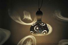 Gourd lamp.  Su kabağı lambalar.  Www.sukabakbodrum.com