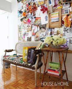 Quirky & Creative Hallway Display   House & Home
