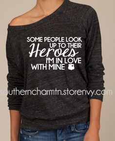 In Love with my Hero LEO Slouchy Pull Over Sweater from Southern Charm
