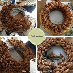 14 Begrenzt Weihnachtsdekoration 94 - New Ideas Natural Christmas, Christmas Makes, All Things Christmas, Winter Christmas, Christmas Crafts For Gifts, Christmas Wreaths, Christmas Decorations, Flower Arrangement Designs, Pine Cone Decorations