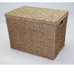 Seagrass Lidded Storage Baskets have a metal frame with seagrass woven around it in and integral handles. UK stock with quality service from Choice Baskets. Lid Storage, Storage Baskets, Trunks And Chests, Bedroom Green, Outdoor Furniture, Outdoor Decor, Storage Solutions, Designer