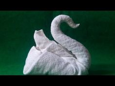 My Maid Shows Off Her Origami Skills (How To Make A Swan) Cisnes de toalha - You. Origami Swan, Diy Origami, Oragami, Towel Swan, Elephant Towel, Towel Origami, Origami Elephant, Towel Animals, How To Fold Towels