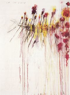 Cy Twombly Coronation of Sesostris, panel 5 of 10, 2000