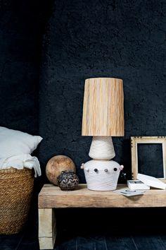DIY déco : créer un pied de lampe avec des bobines - Marie Claire Idées