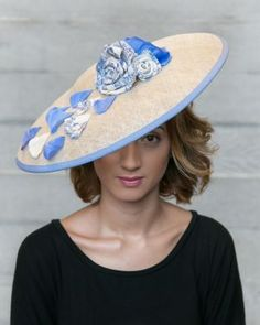 0f5d864ed77 Claudie - a Toile de Jouy-trimmed sinamay saucer.  millinery  ascot  . Hat  ...