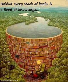 Behind every stack of books quote books art illusion digital read knowledge photograph