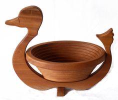 mahogany duck basket