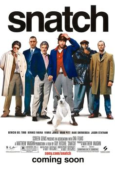 """""""Snatch"""" > 2000 > Directed by: Guy Ritchie > Crime / Thriller / Crime Comedy / Caper Jason Statham, Best Movies List, Good Movies On Netflix, Movie List, Great Movies, Movies To Watch, Awesome Movies, Top Movies, Movies Free"""