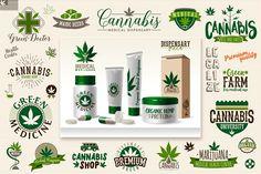 Medical marijuana logo template by brainpencil on @Graphicsauthor