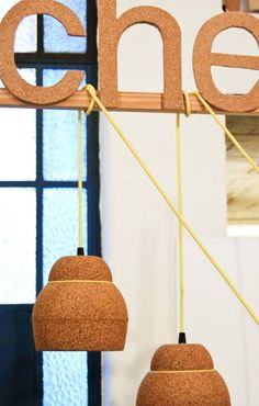 Holly][ pendants lamps made of cork by Corchetes®