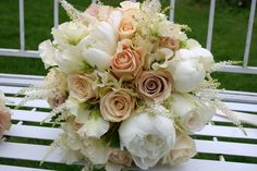 A beautiful nude bridal bouquet